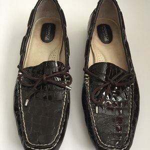 Womens Leather Sperry Top Sider Moccasins